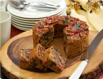 how to prepare fruit cake at home